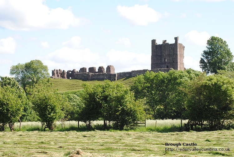 Brough Castle in the Eden Valley Cumbria