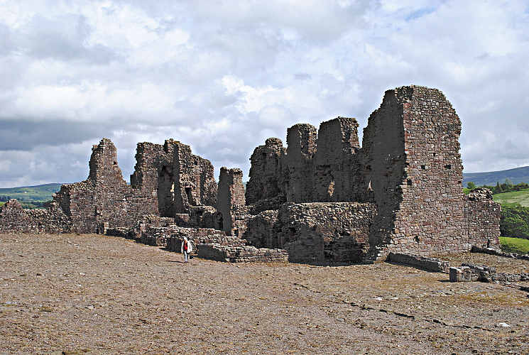 Interrior of Brough Castle Domestic Buildings - Eden Valley Cumbria
