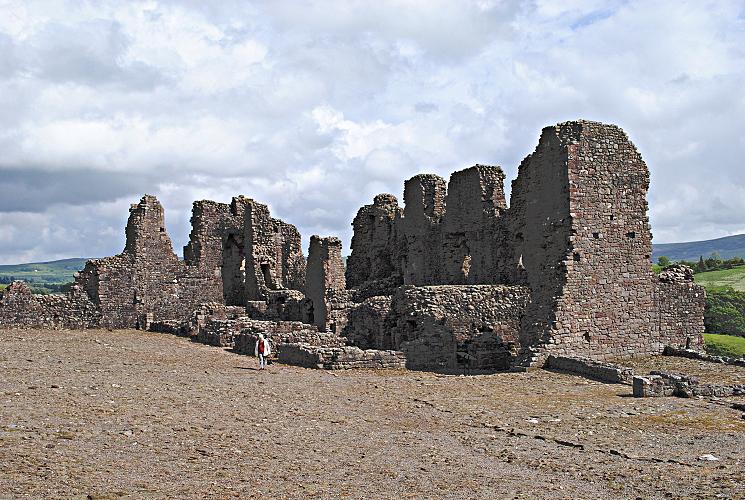 Interrior of Brough Castle Domestic Buildings - Eden Valley Cumbria